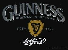 Guinness Beer Brewed In Ireland Beach Bath Towel Established 1759 Black 60x30