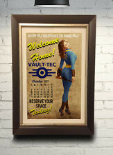 Fallout Vault Tec Pin Up Calendar Retro Art Print 11X17 Fallout 3 4 New Vegas