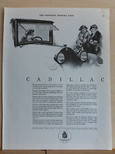 Vintage 1921 magazine ad for Cadillac - Everyone rejoices in beauty of Cadillac
