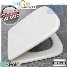 SEDILE ASSE COPERCHIO PER WC RIO DUO Ceramica Dolomite ACB ERCOS GOLD in LEGNO
