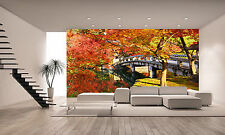 Photo Wallpaper Autumn in the Park GIANT WALL DECOR PAPER POSTER FOR BEDROOM