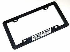 CARBON FIBER LOOK LICENSE PLATE TAG FRAME FOR HONDA ACURA TYPE-R BK B