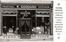 Gloucester posted Shop Front. W. Goddard, Piano & Organ Tuner.