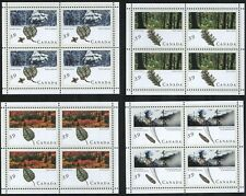 D1007B CANADA 1990 #1283a-1286a Petro Canada, Forests Miniature Panes of 4 MNH