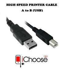 2M Metre USB Printer Cable High Speed A-B for Epson HP Canon Kodak Dell Laser