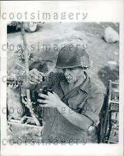 1943 WWII US Soldier R Ryan Tests Chlorine Levels in Water Italy Press Photo