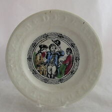 Antique ABC Staffordshire Pottery Alpahabet General Military Soldier Plate