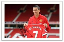 ANGEL DI MARIA MAN UTD MANCHESTER UNITED SIGNED PHOTO PRINT AUTOGRAPH