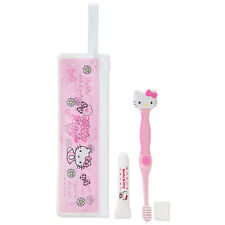 NEW Sanrio Japan Hello Kitty Portable Dental & Case Kawaii F/S toothbrush