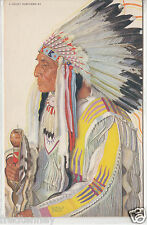 Blackfeet Chief Wades-in-the-Water  -Winold Reiss Illustration - early 1900s