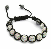 New shambala bracelets with 9 clay crystal disco balls in 11 different colours