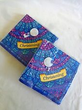 Beverage Party Napkins CHRISTENING 2 Packs of 16 ct 3 Ply 65-4048 Creative Exp