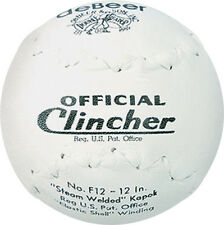"ONE DOZEN deBeer Clincher Official Softball F12 12"" Slowpitch Doubleheader Worth"
