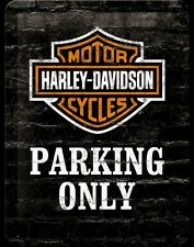 Harley Davidson Motorcycles Parking Only Metal Sign Home Decor Studio Pub Garage