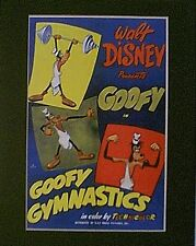 GOOFY ~ Mat Print~11x14~GYMNASTICS & WEIGHT LIFTING~MADE OF MUSCLE~NEW