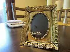 24K Gold Plated NEW w/Tag Stunning VTG Classic Filigree Embossed Photo Frame .