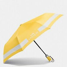 COACH F63689 HORSE AND CARRIAGE UMBRELLA CANARY/CHALKNEW W ITH TAG