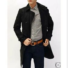 THEORY- Double Breasted Black Slim Fit Trench Coat Medium Originally $895