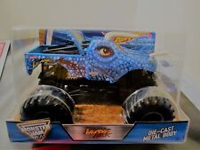 Hot Wheels Monster Jam Truck 1:24 Scale Die-Cast Metal Body Jurassic Attack