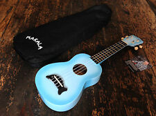 Makala Light Blue Burst Soprano Dolphin Ukulele Uke Fitted With Aquila Strings