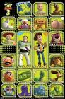 TOY STORY 3 MOVIE POSTER ~ SQUARES 22x34 Woody Buzz Lightyear Alien Disney Pixar