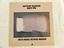 Anthony Braxton Duets 1976 Arista Records Braxton with Muhal Richard Abrams NM