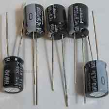 5x Nichicon HM 1000uF 6.3v 8mm Low-ESR Capacitors caps 105C 8x11.5mm Low Profile