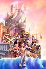 "Kingdom Hearts Boy 1 2 Game Silk Cloth Poster 36 x 24"" Decor 18"