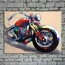 Oil painting canvas hand-painted Harley-Davidson motorcycle abstract art large