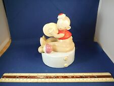 """Curious George Monkey With Cymbals """"Pop Goes The Weasel"""" Music Box"""