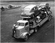 1940 Desoto's Loaded on  Car Carrier  8 x 10  Photograph