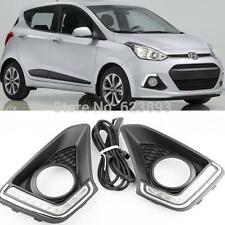 2x LED Daytime Running Light DRL Fog Lights For Hyundai Grand I10 Xcent 2014 -16