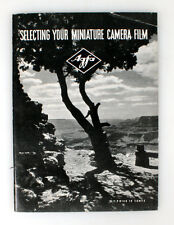 AGFA BOOKLET ON SELECTING YOUR MINIATURE CAMERA FILM