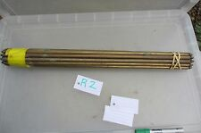 Antique Brass Stair Rods x16 Carpet Vintage Old Acorn  58.5cm L      NO CLIPS