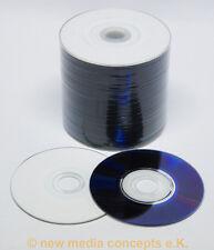 50 scocciato DVD VERGINI DVD-R 8cm 1,4gb INKJET BIANCO Fullprintable superficie