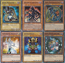 Sorcerer of Dark Magic + Dark Magician Of Chaos + Dark Magician Girl - NM Yugioh