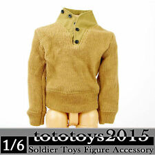 Dragon 1/6 Scale WWII US Army Yellow Sweater Jacket Coat Clothes Clothing Models