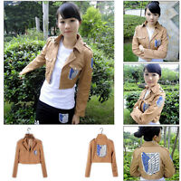 Cosplay Eren Costume Jacket Coat Attack on Titan Shingeki no Kyojin Recon Corp
