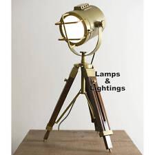 Tripod Table Lamp Desk Light Wood Stand Home Living Room Office Lighting Modern