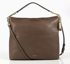 "COACH ""Madison"" Silt Brown Leather Zip Convertible Hobo Shoulder Bag 27858 - NEW"