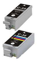NOW INK 2 inks for PGI 35 & CLI 36 FOR CANON PIXMA IP100, IP110 BLACK & COLOUR