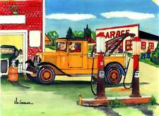 YOUR NAME 16x20 GARAGE ART PRINT Hot Rod Tow Truck Wrecker Gas Station Model A