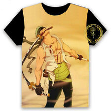 Anime One Piece Zoro Unisex T-shirt HD Printing Cosplay Tee #YH-Z14