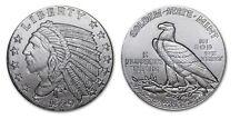 1/10th oz .999 Fine Silver Incuse Indian Head Silver Round