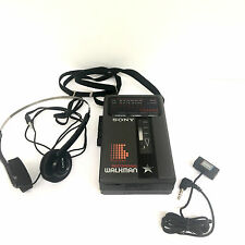 Sony Walkman FM/AM Stereo Cassette Player Microphone Recorder Headphones WM F46