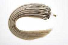 """100% Remy Human Hair Extensions Easy Loop Mirco Ring Bead Tip 100S 16""""18""""20""""22"""""""