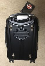 "Harley Davidson 18"" Hardside Black Chrome Wheeled Carry-On Luggage Suitcase"