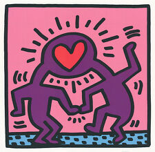"Keith Haring ""Winkie Wedding"" Heart Herz Liebe Love 1987 Kunstdruck Poster 037"