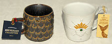 STARBUCKS - 2014 & 2015 ANNIVERSARY SIREN Collection - 2 pc COFFEE CUPS / MUGS