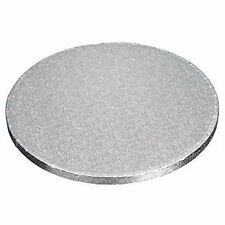 "4"" inch ROUND silver cake drum (board) 12mm thick x 2"
